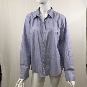 J. Crew Tops - J. Crew Women's Perfect 100% Cotton Shirt Size 16